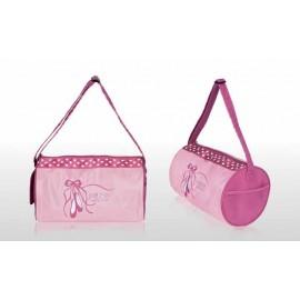 sac de danse SASSI polochon rose chaussons brodés