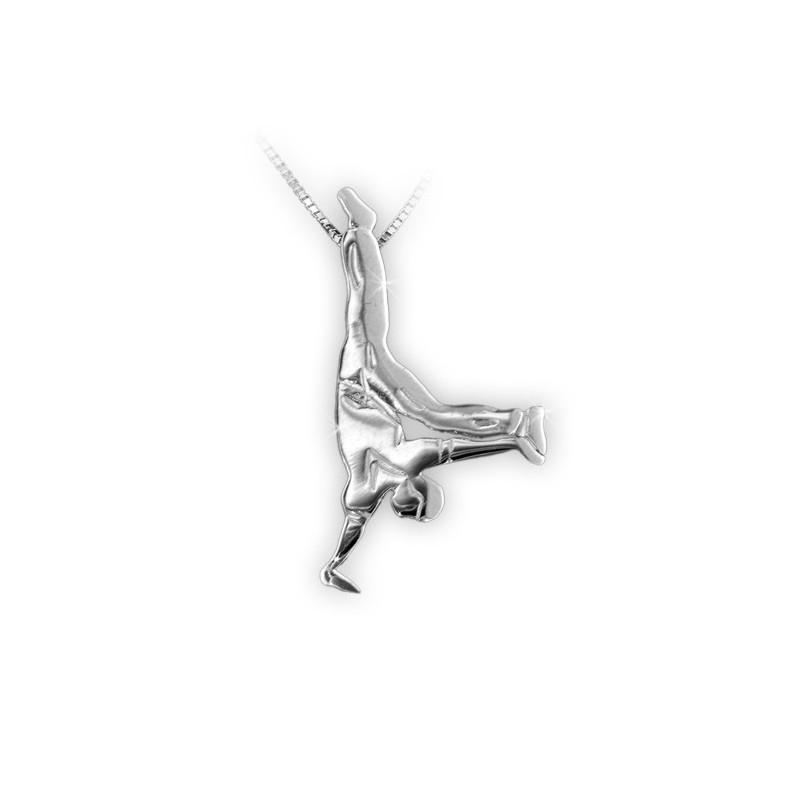 pendentif MIKELART danseur de HIP HOP BRILLANT