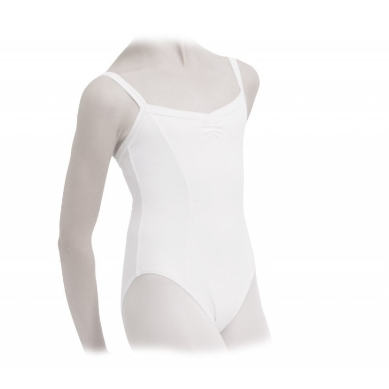 Justaucorps danse REPETTO à fronces blanc - BODY LANGAGE c16470fbc84