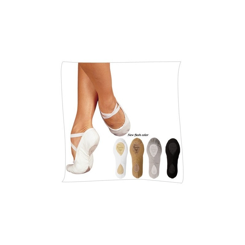 chaussons de danse demi pointes sansha pro1c blanc body langage. Black Bedroom Furniture Sets. Home Design Ideas