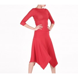 Top manches longues REPETTO rouge flamme