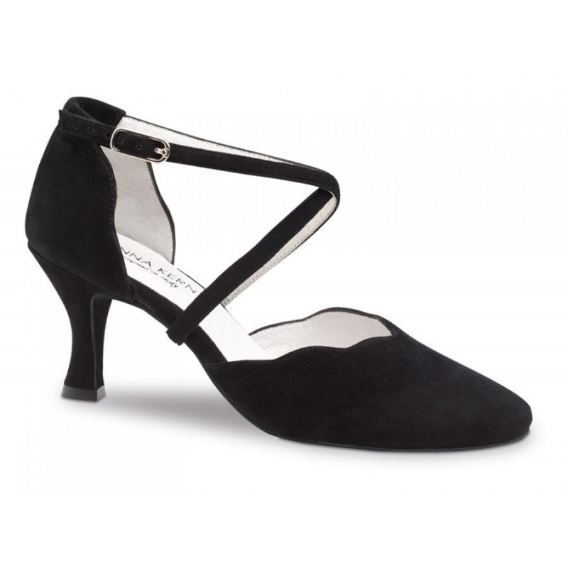 Chaussures à bout ouvert Werner Kern noires femme rLulY