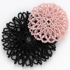 cache-chignon crochet perles DASHA DESIGNS petit modèle
