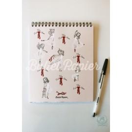 carnet de notes BALLET PAPIER The Red Shoes