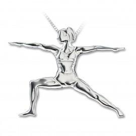pendentif yoga MIKELART VIRABHADRASANA 2 Le Guerrier 2