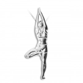 pendentif yoga MIKELART VRKASANA Posture de l'arbre