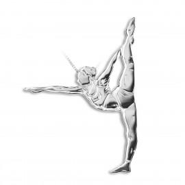 pendentif yoga MIKELART DANDAYAMANA DHANURASANA Posture de l'arc debout
