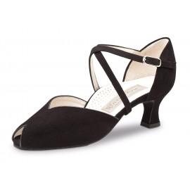 Chaussures de danse de salon WERNER KERN FATIMA daim noir