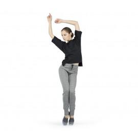 pantalon danse REPETTO échauffement gris chine