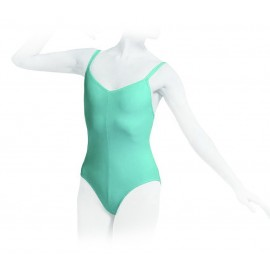 Justaucorps danse REPETTO double bretelles enfant vert aqua