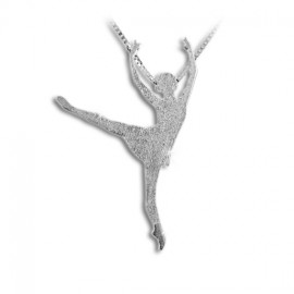 pendentif danseuse MIKELART ARABESQUE BALANCHINE satiné