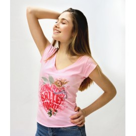 tee-shirt BALLET PAPIER Strawberry Ballet Forever