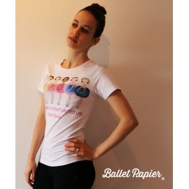 tee-shirt BALLET PAPIER Passion adulte