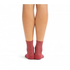Chaussettes de ville REPETTO lurex rouge karma