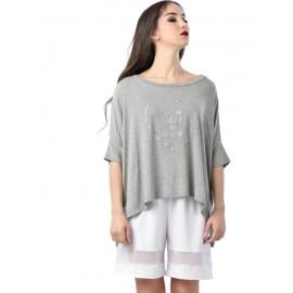 t-shirt NON POSSO HO DANZA MAXI CROP 0198