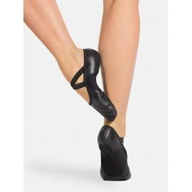 chaussons de danse demi-pointes CAPEZIO HANAMI cuir noir