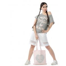 Sac de danse NON POSSO, HO DANZA shopper pink cuore