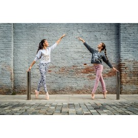 crop top BALLET PAPIER Dance Mood Silver