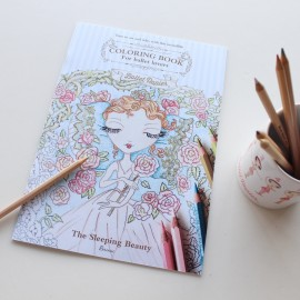 cahier coloriage BALLET PAPIER Belle Au Bois Dormant