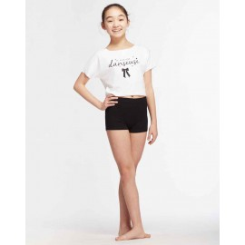 t-shirt court danse TEMPS DANSE AGILE JR NOEUD enfant