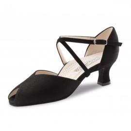 chaussure danse salon femme WERNER KERN LOTTE daim noir