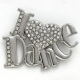 broche DASHA DESIGNS I LOVE DANCE