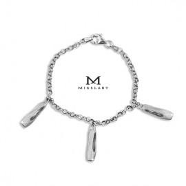 bracelet danseuse MIKELART 3 CHARMS CHAUSSONS