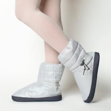Boots d'échauffement danse RUSSIAN POINTE Sparkling Silver