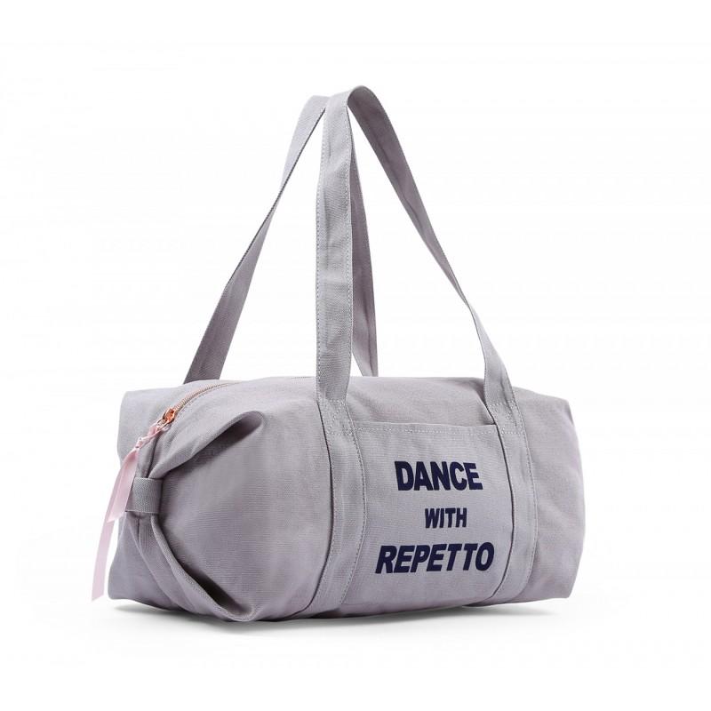 sac de danse REPETTO Polochon Taille M coton taupe
