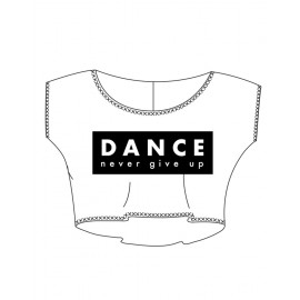 t-shirt court danse TEMPS DANSE AGILE JR NEVER enfant