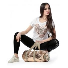 t-shirt NON POSSO, HO DANZA 0038 GRANDE CUORE