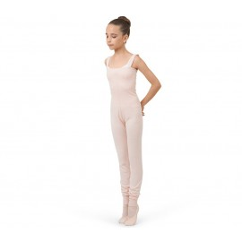 combinaison danse REPETTO enfant larges bretelles rose pétale